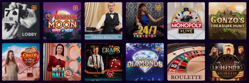 LIVE Casino - Spiele mit echten Dealern